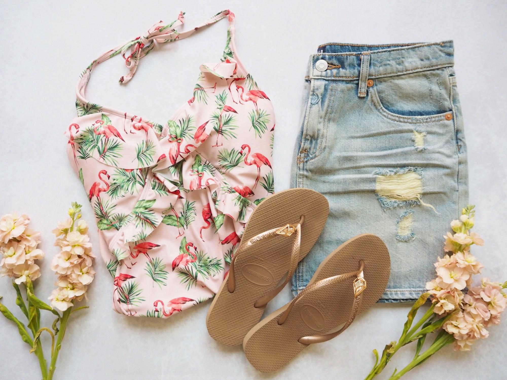 summer fashion swimwear one piece swimsuits