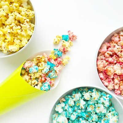 Fruity Rainbow Popcorn Recipe