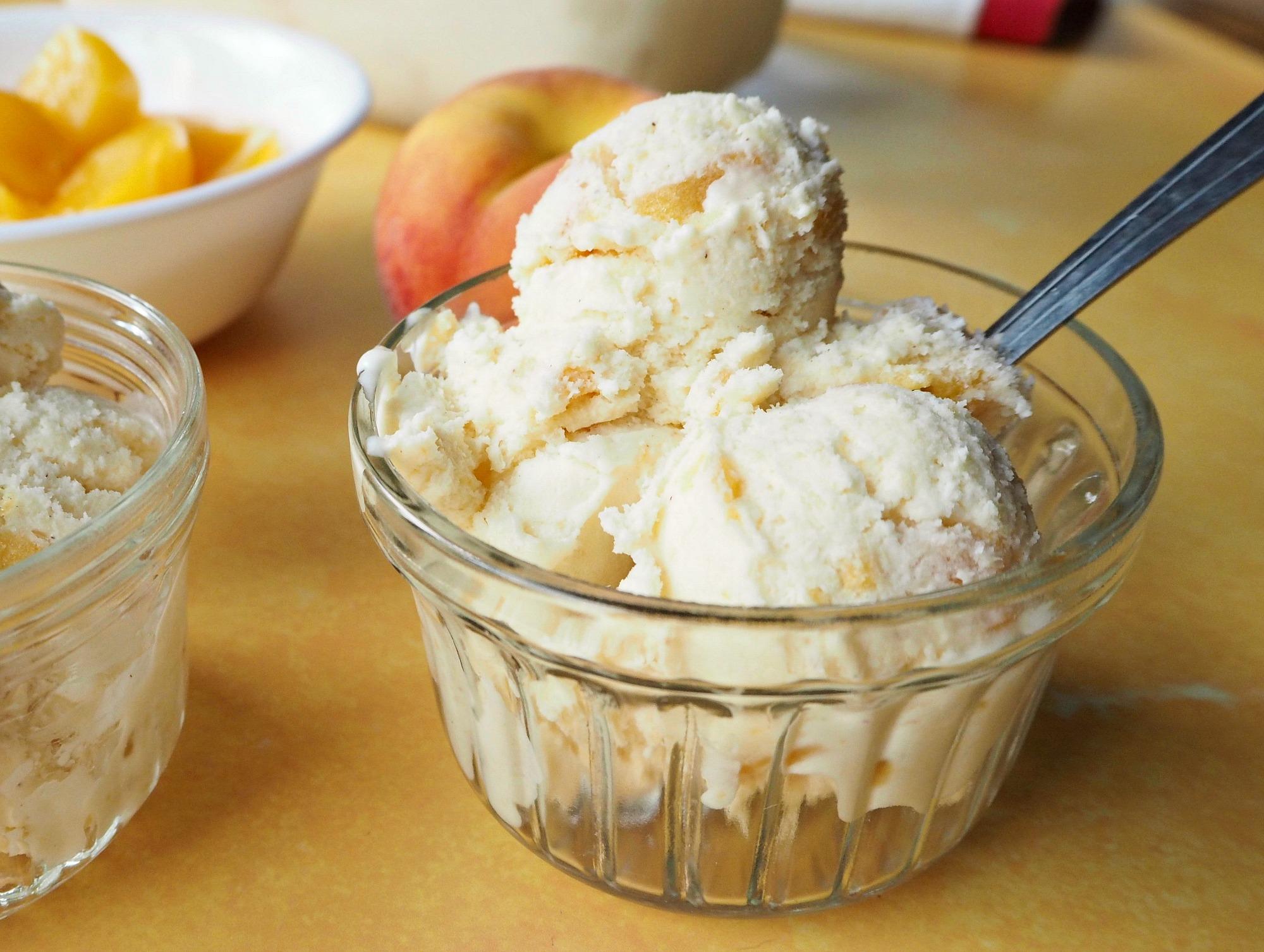 Chunky Peach Ice Cream recipe