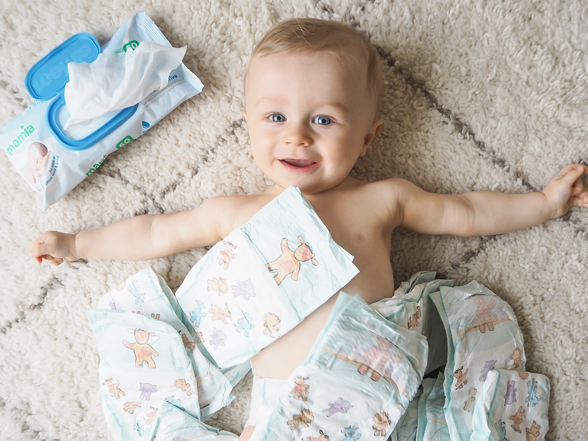 Aldi Mamia Nappies & Baby Wipes