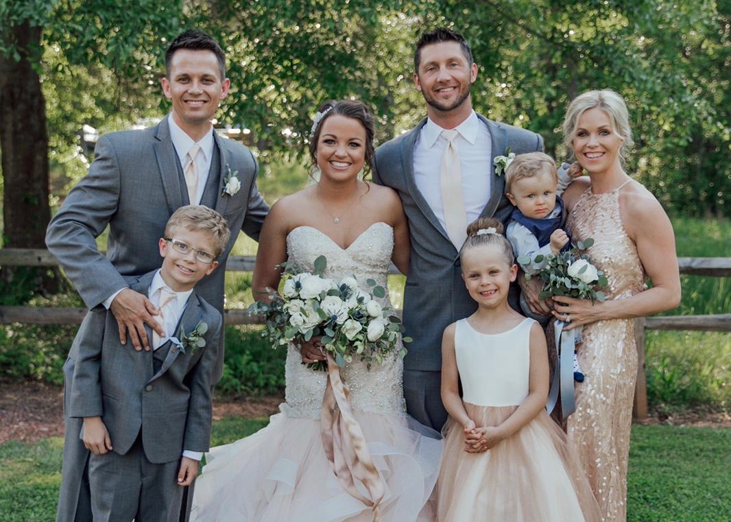 family of five family photos