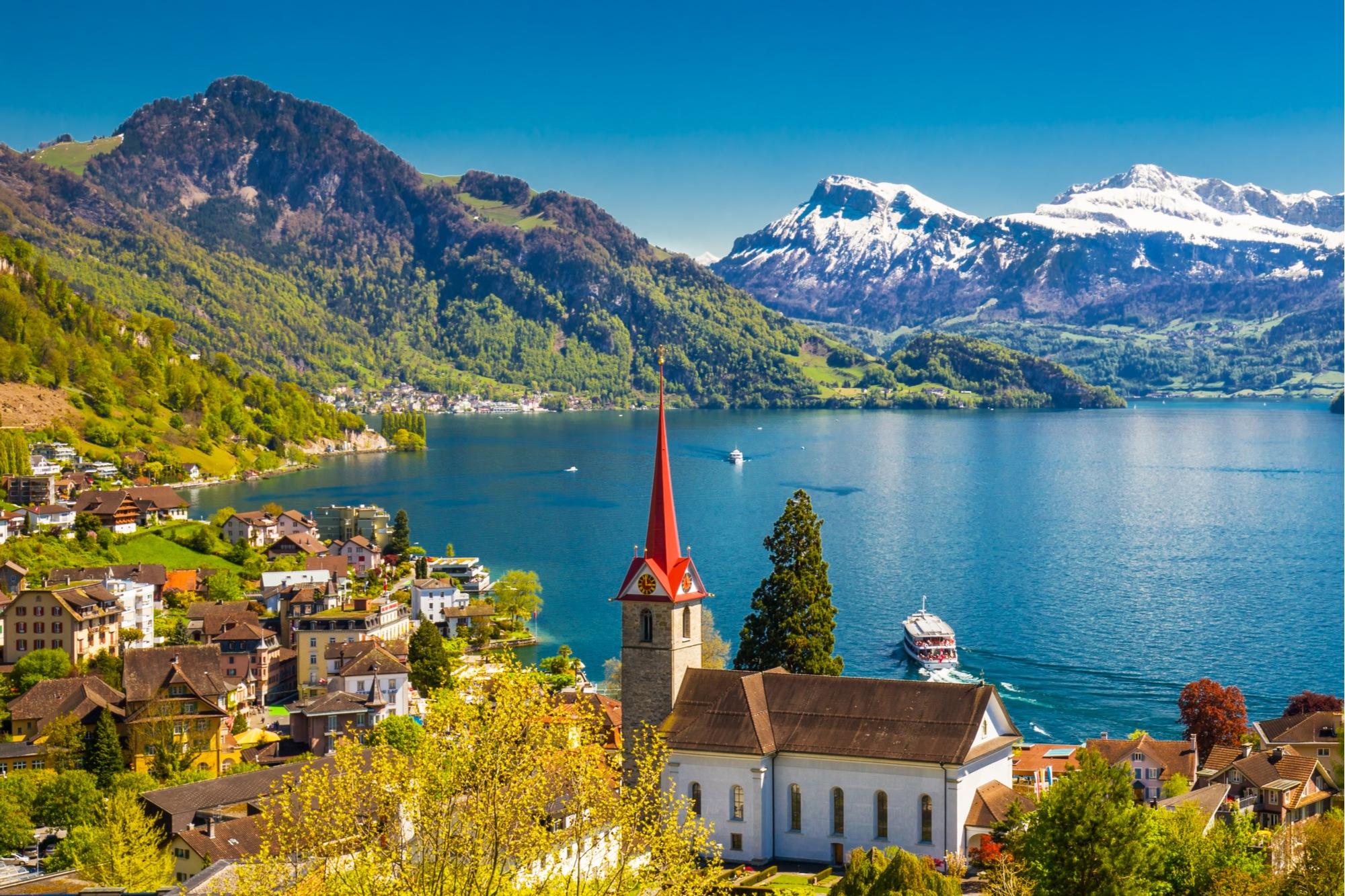 lake lucerne, switzerland honeymoon road trips in europe