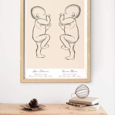 A Birth Poster for a Baby Keepsake by Positives Prints