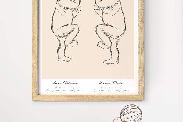 birth poster by positive prints