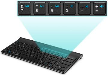 Logitech iPad keyboard media controls