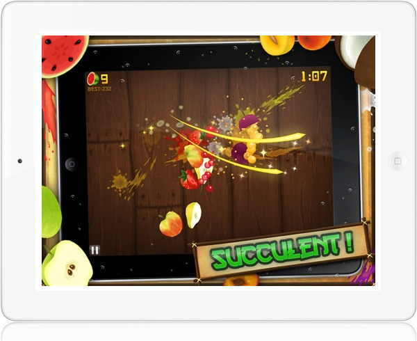 Fruit Ninja HD iPad multiplayer game