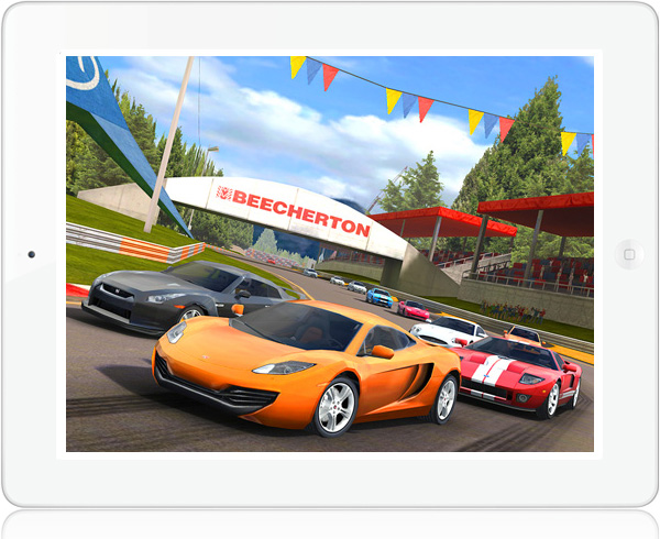 Real Racing HD 2 multiplayer iPad game