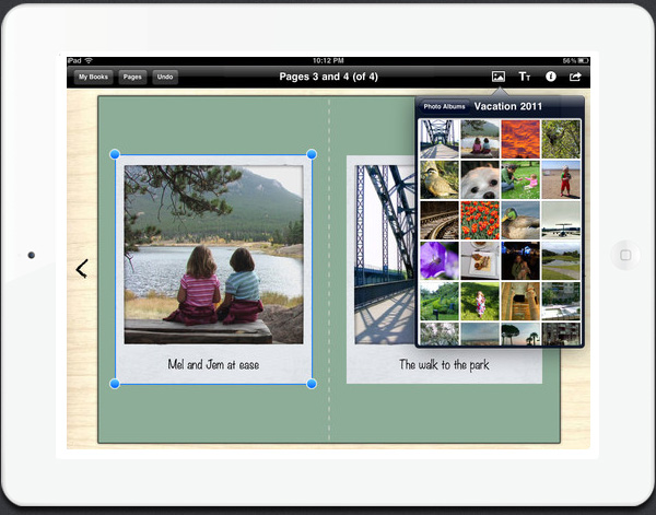 Create your own books on the iPad