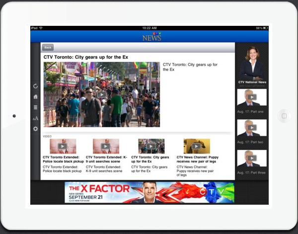 CTV News iPad edition app