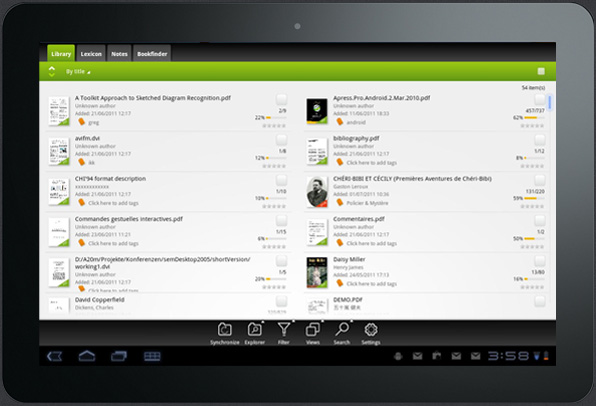 Featured Android app Mantano Reader