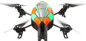 orange and green Parrot Ar.Drone