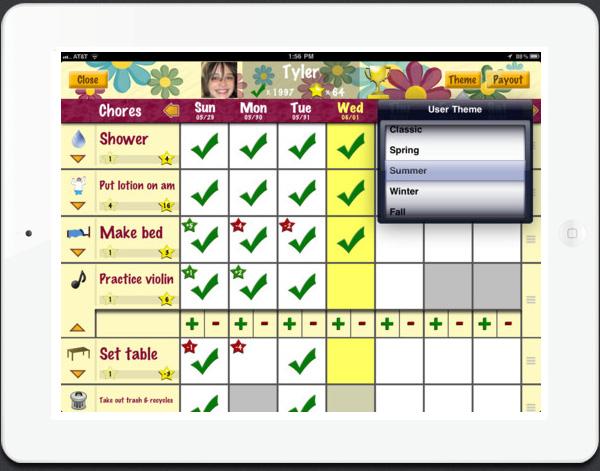 Chore Pad HD app for iPad
