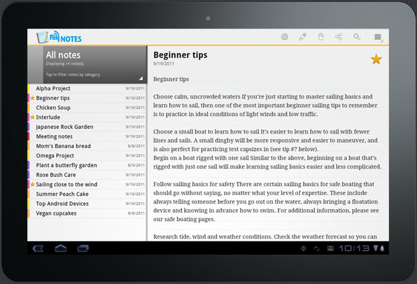 Android App of the Week: Fliq Notes Notepad - Let's Talk Tablets