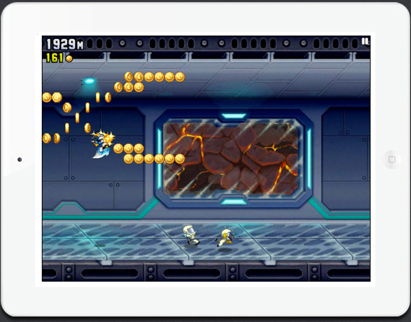 Jetpack Joyride fun arcade style iPad game