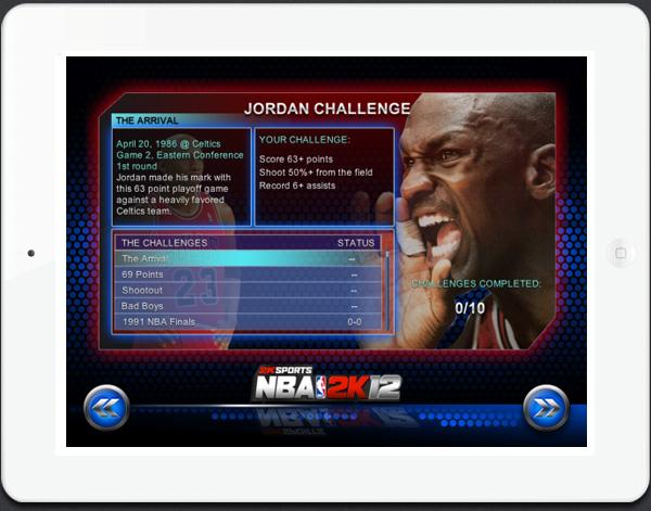 NBA 2K12 game for iPad