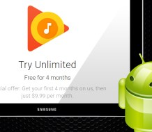 Google Play Music 4 month free-trial promo