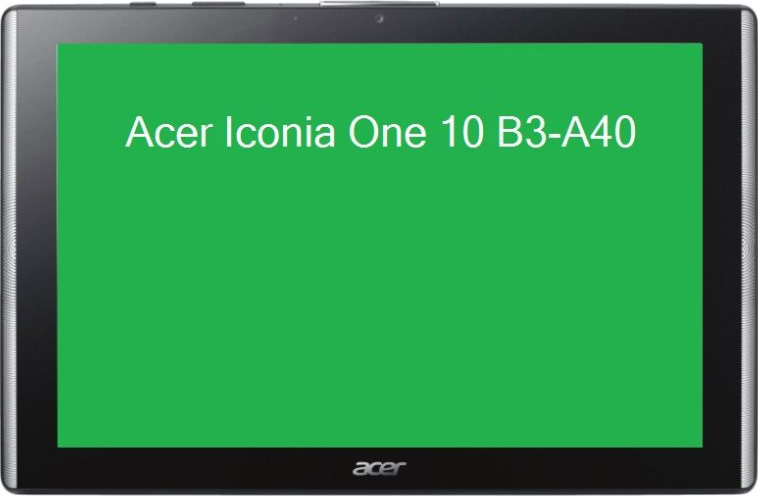 leaked Acer Iconia One 10 tablet front view