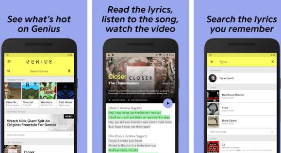 Genius Song Lyrics Android app