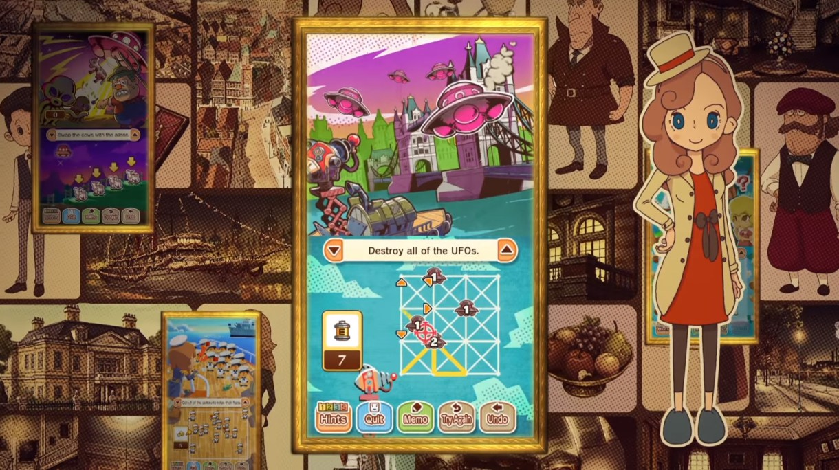Layton's Mystery Journey Katrielle and the Millionaires' Conspiracy game screenshot