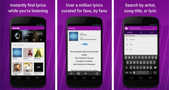 Lyrically music lyrics app for Android