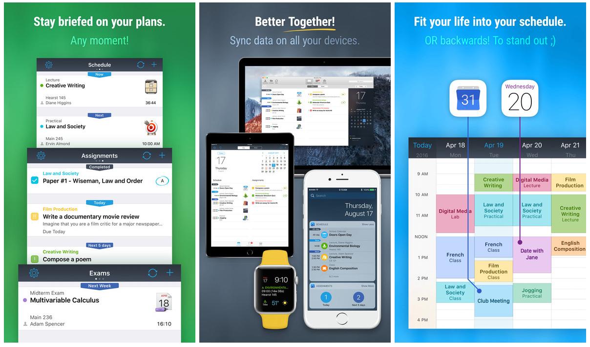 iStudiez Pro Homework, Schedule, and Grades iOS app