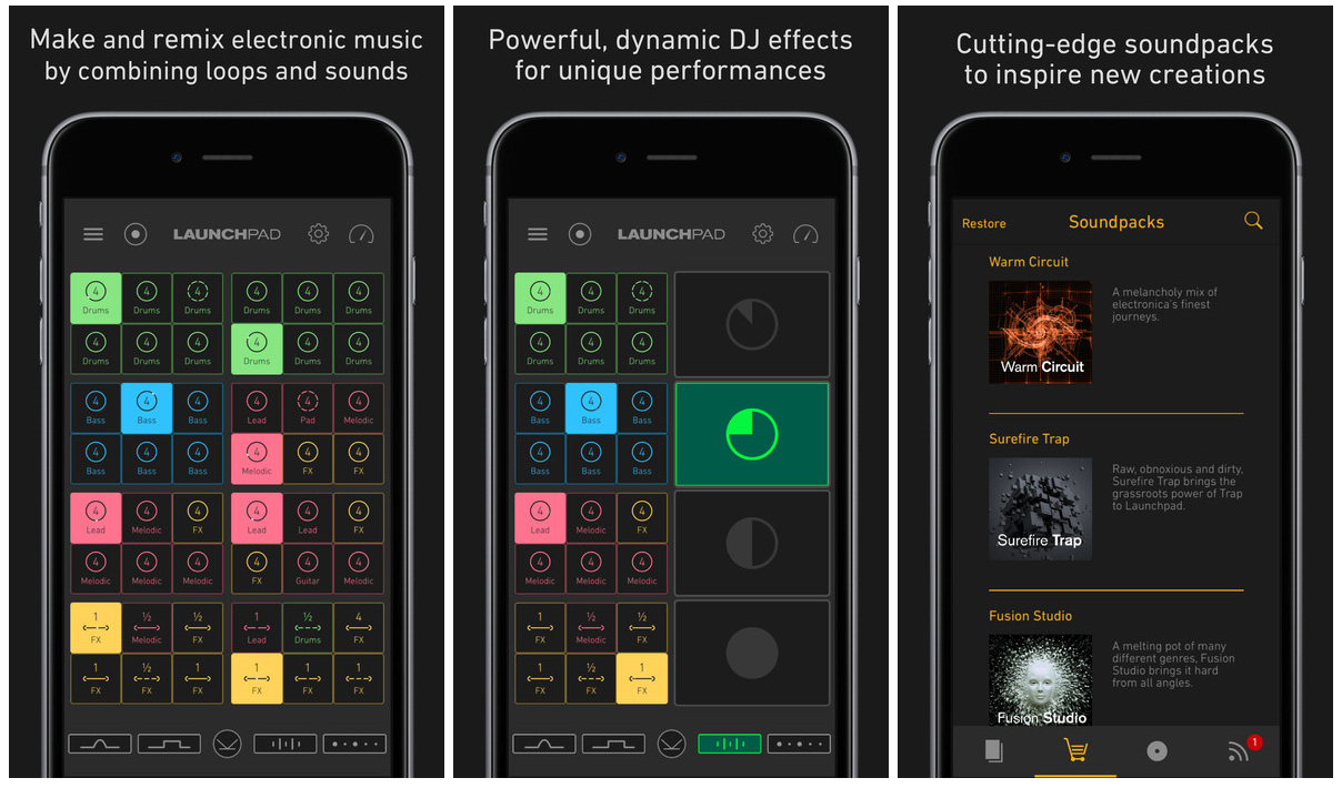 Launchpad iOS app to make and remix music