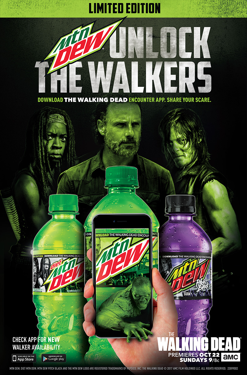 The Walking Dead Encounter mobile game in partnership with Mountain Dew poster
