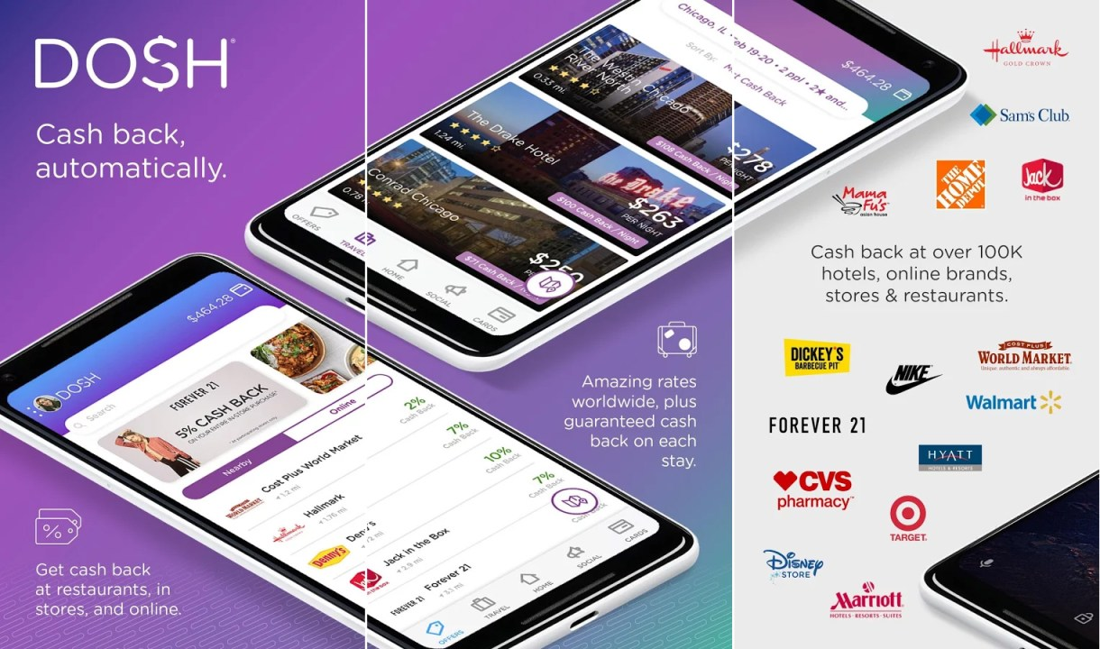 DOSH free Christmas shopping cash back app for Android