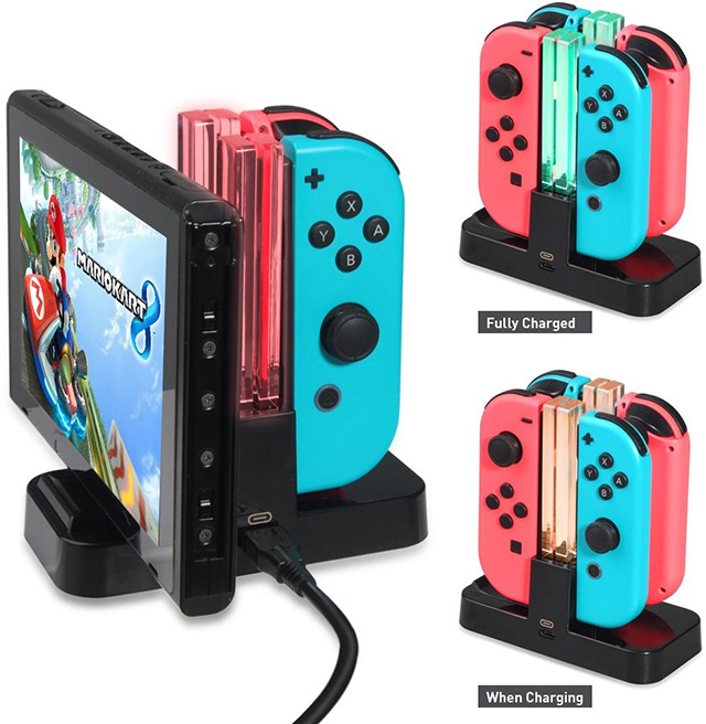 Joy-con Charging Dock with Pro Controller Charger