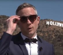 Simon Pierro displays new iPad magic tricks on Hollywood Walk of Fame