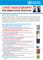 WHO TB Radiography Fact Sheet