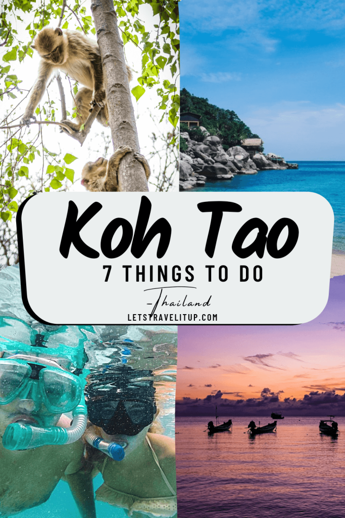 7 Things to do in Koh Tao Thailand from letstravelitup.com