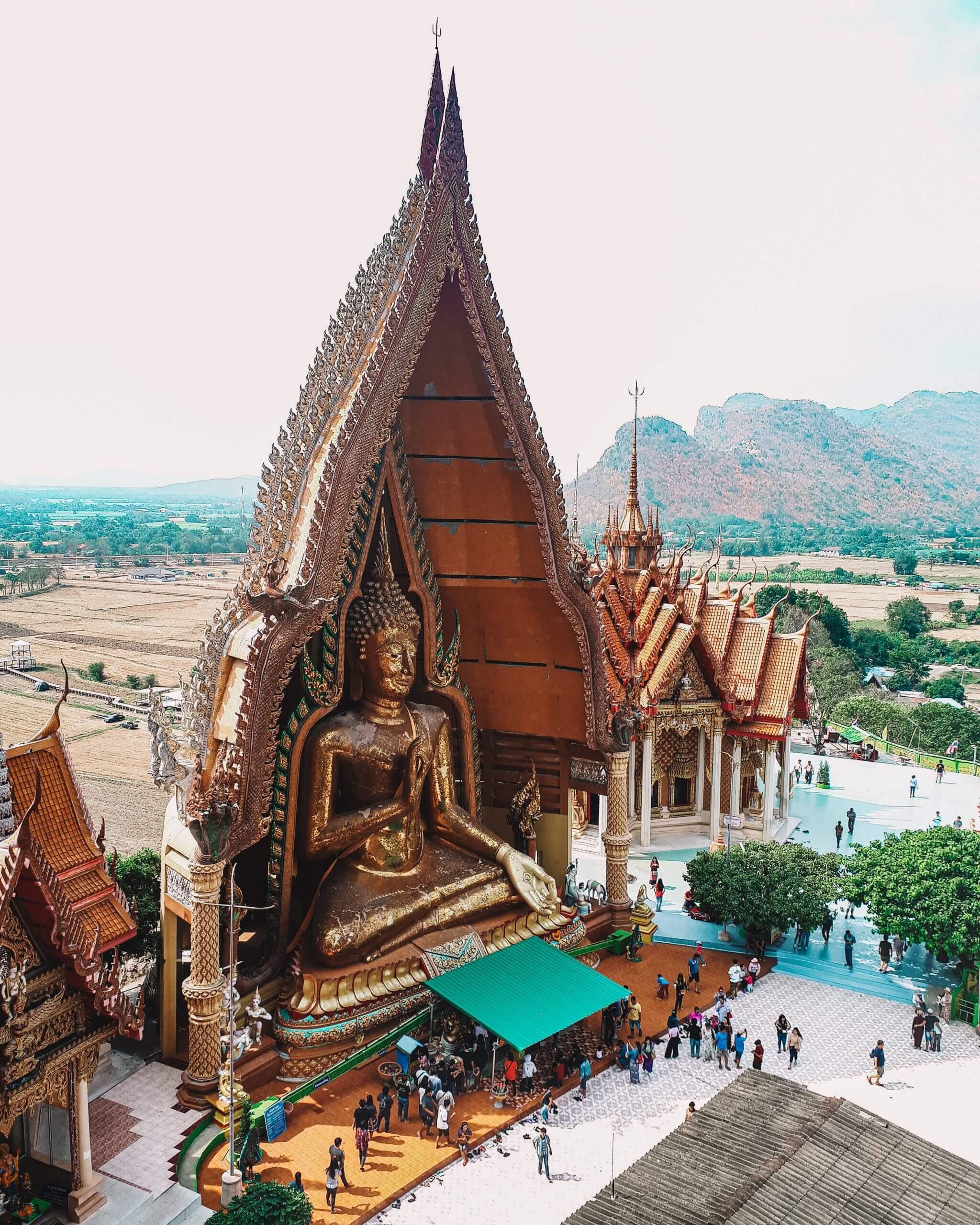 The beautiful tiger temple in Kanchanaburi Thailand