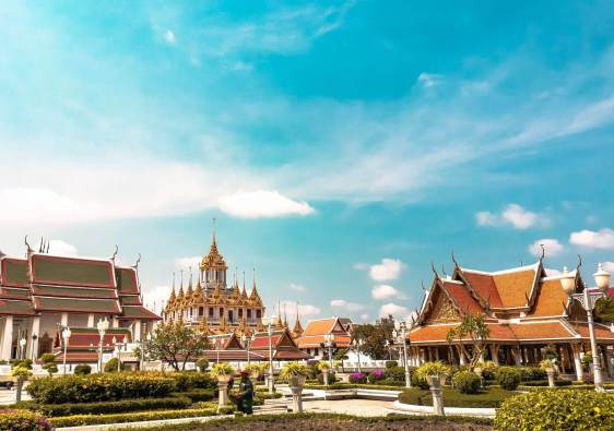 The beautiful grand palace in Thailand