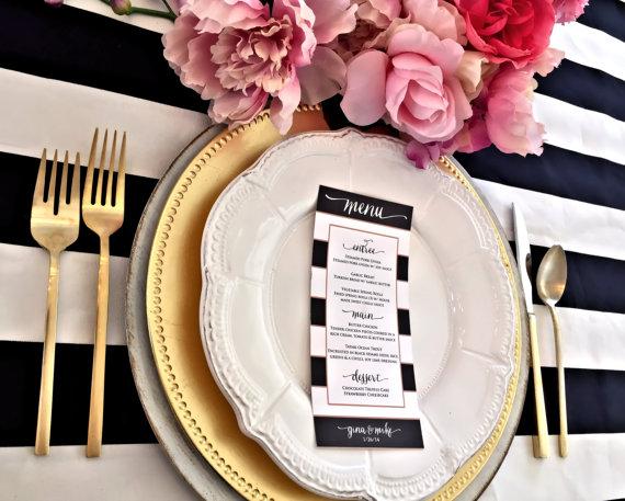 Czarno-białe menu