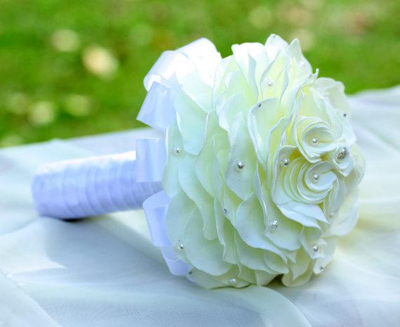 papierowa wiązanka ślubna