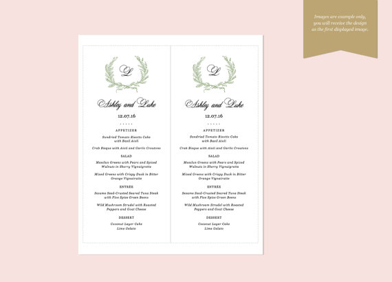 proste menu weselne