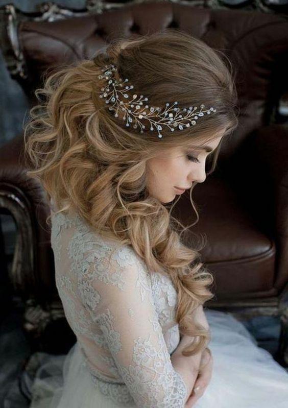 fryzura ślubna fale