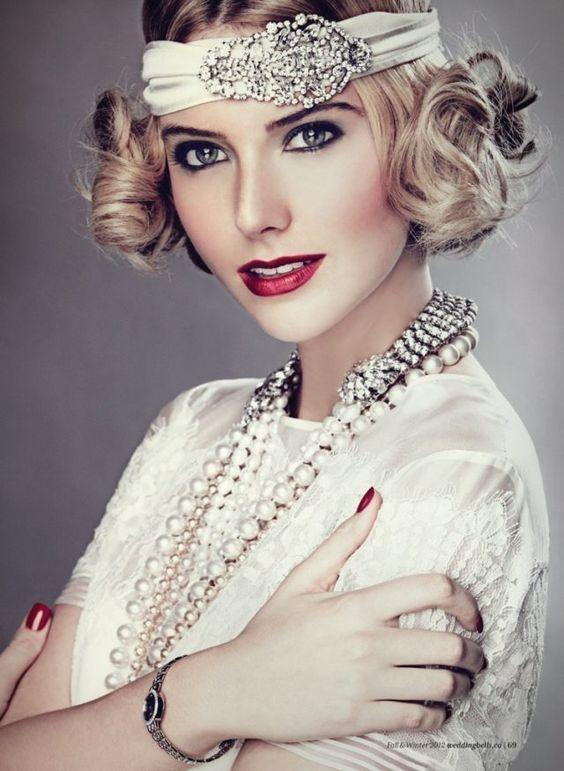makijaż ślubny w stylu retro