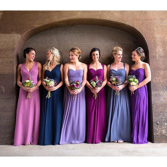 fioletowe sukienki