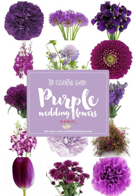 fioletowy bukiet ślubny