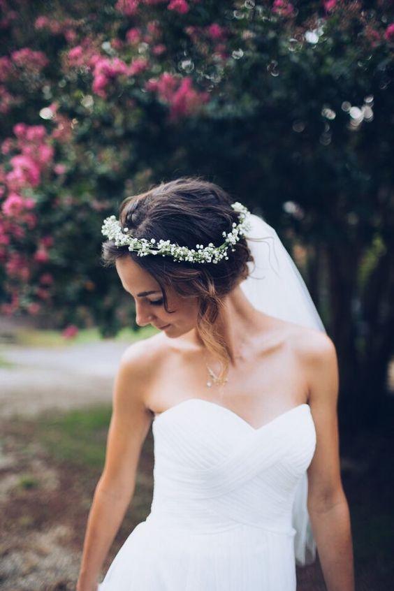 skromne wianki ślubne