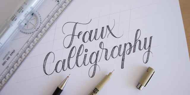 How to Do Faux Calligraphy + FREE Worksheets (27)  Lettering Daily