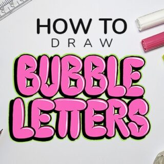 How To Draw Bubble Letters Step By Step Tutorial 2020