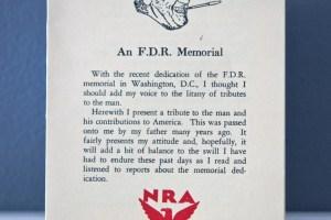 An F.D.R. Memorial