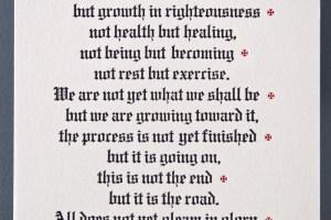 Martin Luther letterpress broadside