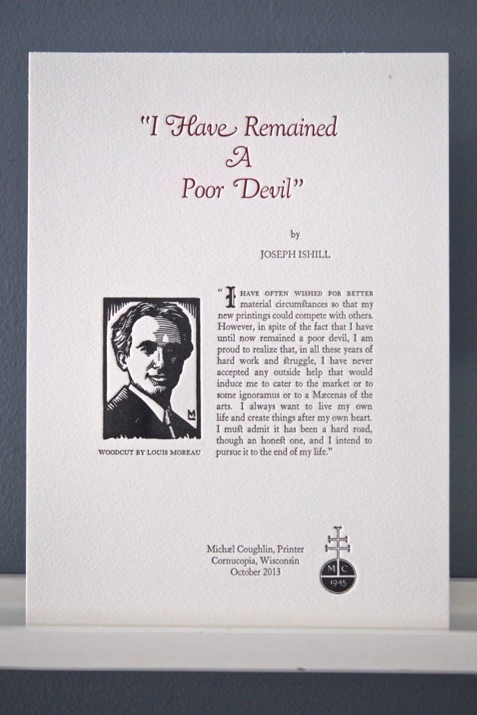 Joseph Ishill remembered