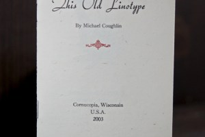 This Old Linotype pamphlet