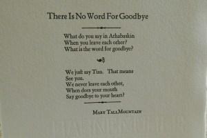 A letterpress-printed broadside written by Mary TallMountain