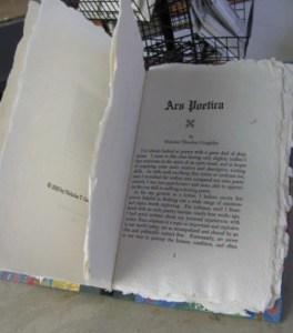 Ars Poetica book